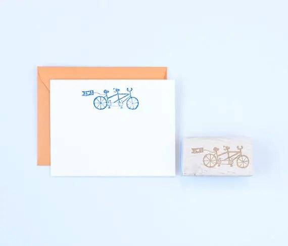 tandem bicycle stamp