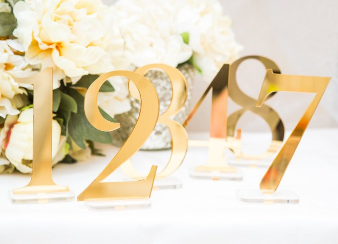 Why you need table numbers for your wedding | table number | via http://emmalinebride.com/reception/do-you-need-table-numbers/