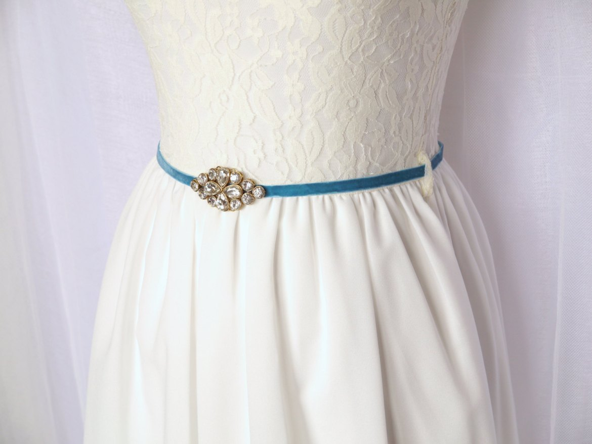 blue dress sash