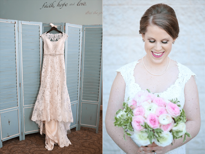 brides wedding dress | Sarah + JJ's Pretty Wedding at 173 Carlyle House | http://www.emmalinebride.com/real-weddings/pretty-wedding-173-carlyle-house/ | photo: Melissa Prosser Photography - Atlanta Georgia Wedding Photographer