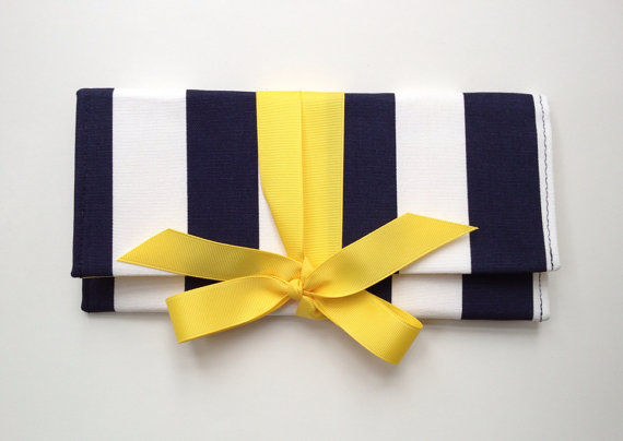 color clutches navy and yellow