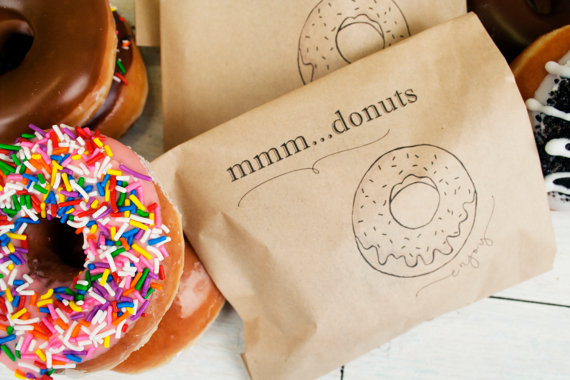 donut favor bag - edible wedding favors