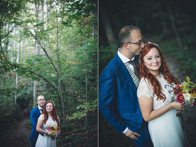 Plan Destination Elopement Weddings in Colorado or Kentucky | Angelyn + Justin's Red River Gorge Wedding in Kentucky (Intimate small wedding) | http://www.emmalinebride.com/real-weddings/plan-a-breathtaking-destination-elopement-in-kentucky-colorado-mountains/ | photo: My Tiny Wedding/Two Colorado - Kentucky and Colorado Wedding Photographer, Venue, Officiate wedding package