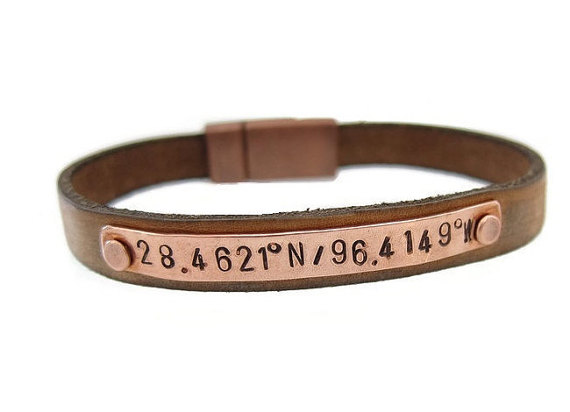 men's latitude longitude bracelets