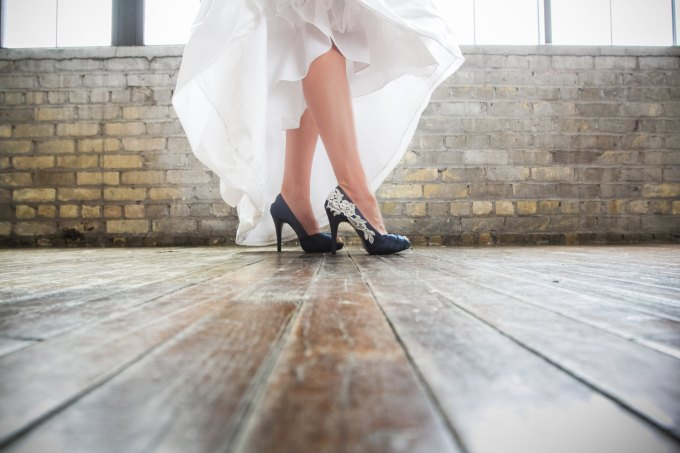 navy heels | via 50+ nautical wedding theme ideas at EmmalineBride.com