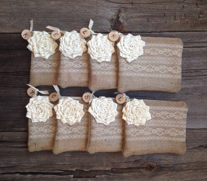 personalized clutches with wood charm