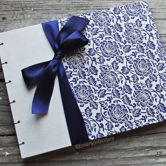 sapphire guest book by emersonbindery