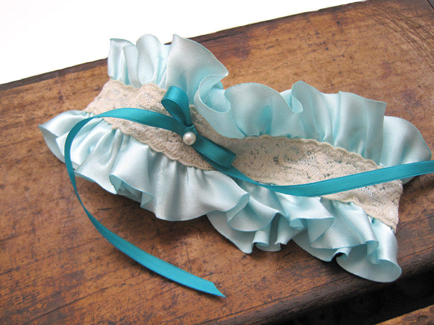 teal garter by mythreeaunts