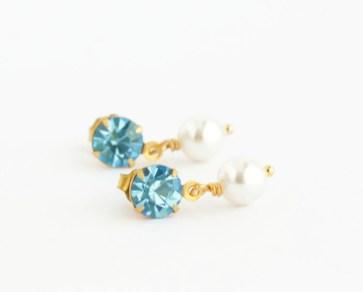 aquamarine blue drop earrings