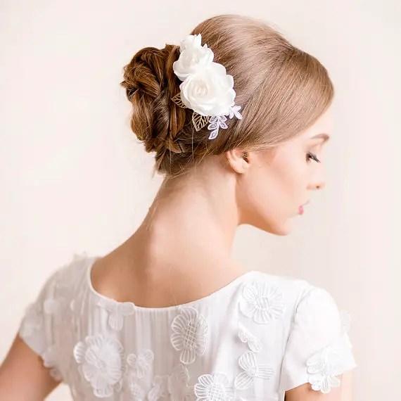 bridal hair bun 1