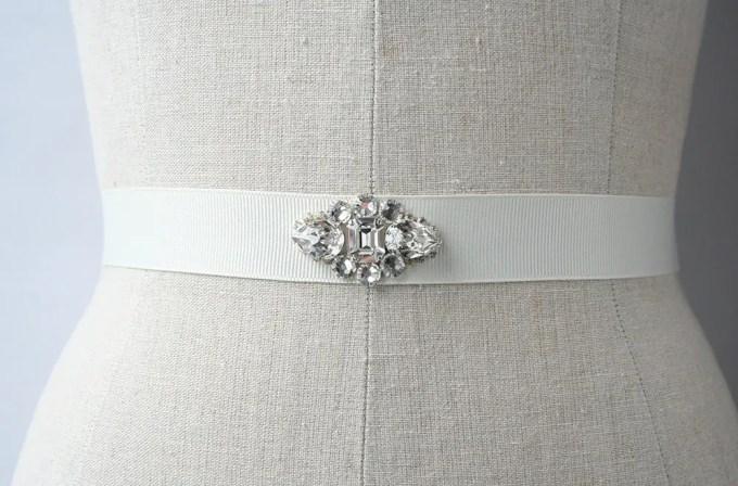 crystal bridal dress sash | by Laura Stark | sashes dress | http://emmalinebride.com/bride/bridal-sashes-dress