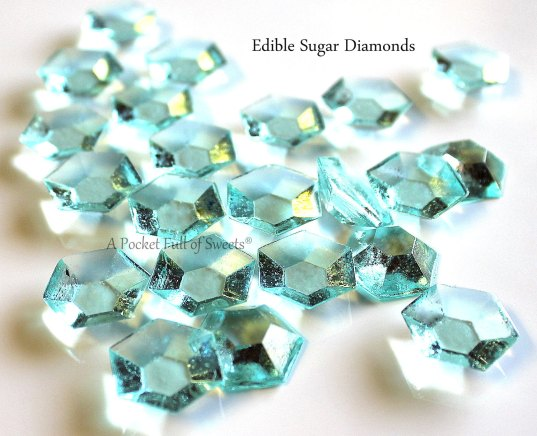 edible diamonds by apocketfullofsweets in blue