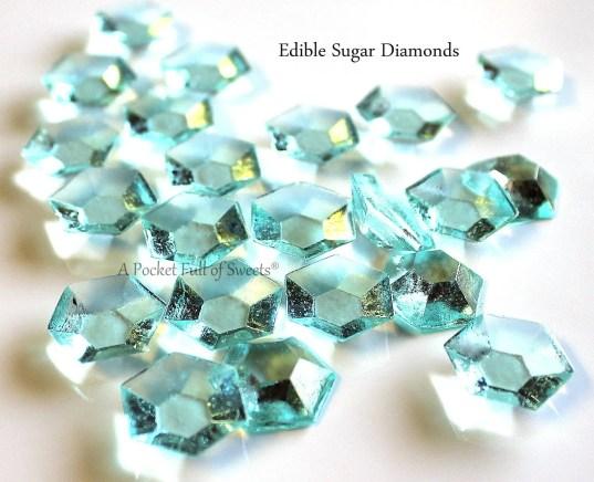 edible diamonds by apocketfullofsweets in blue