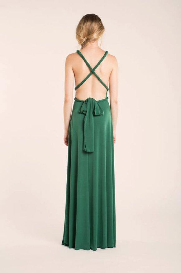 emerald green back