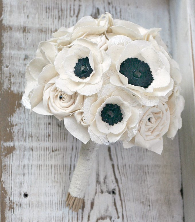 fabric anemone bouquet