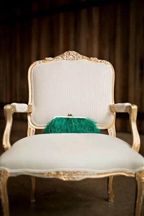 feather-clutch-purse-emerald-green