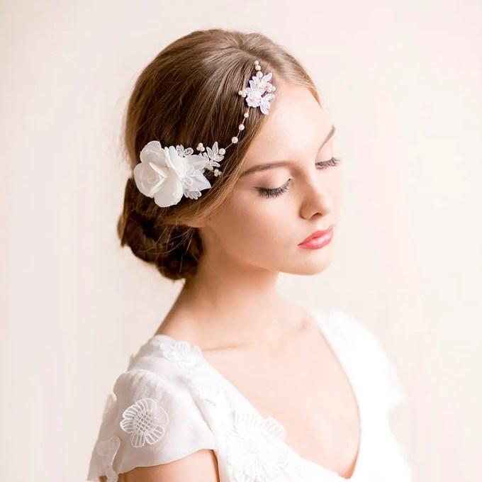 floral bridal headpiece | hairstyles accessories weddings | http://emmalinebride.com/bride/hairstyles-accessories-weddings/ | via florentes: http://etsy.me/22yo1LX