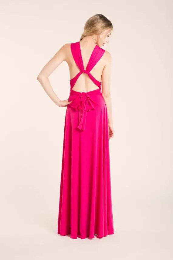 hot pink infinity dress - 2