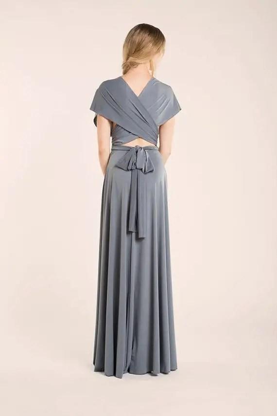 long infinity bridesmaid dress by mimetik - back