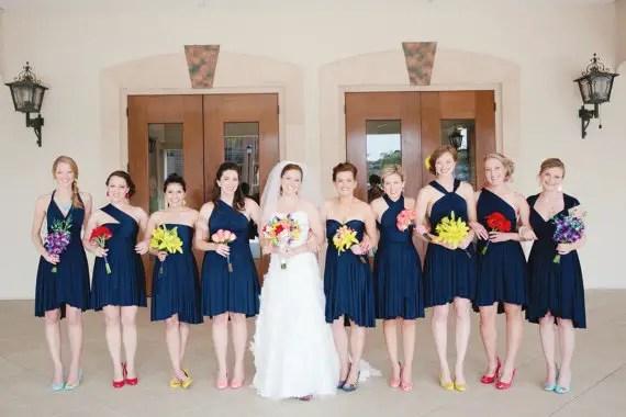 navy blue bridesmaid convertible dresses
