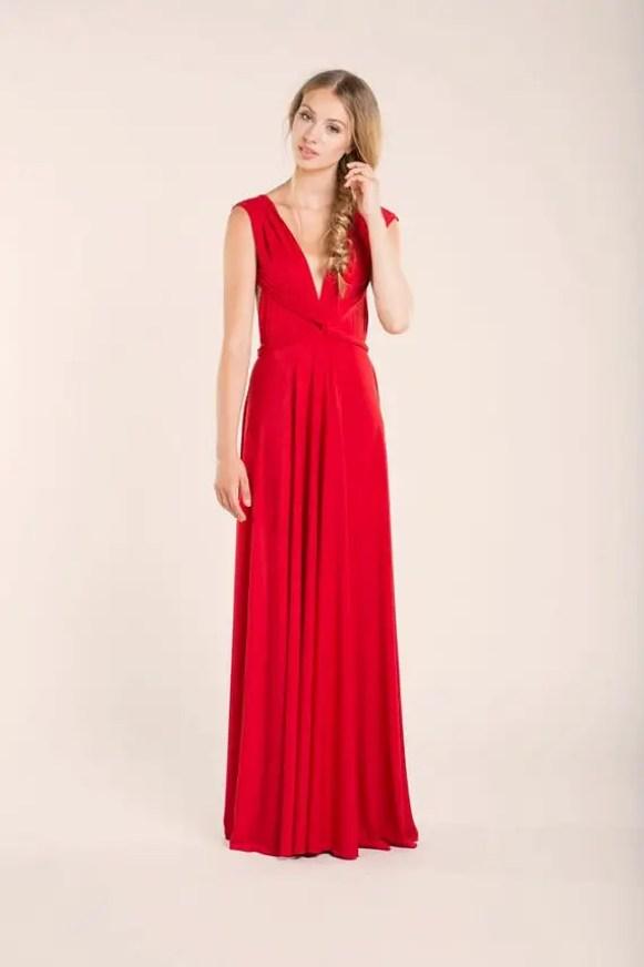 red infinity dress