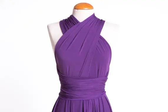 short lilac dress