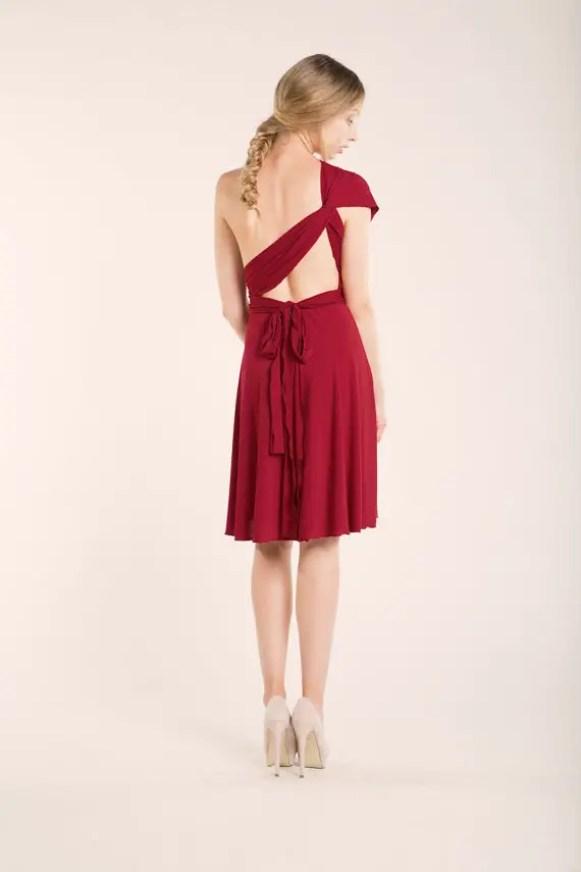 short red dress back