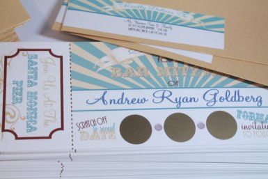 vintage circus scratch off save the dates