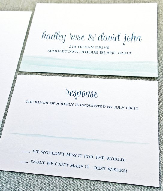 blue waves invitations rsvp