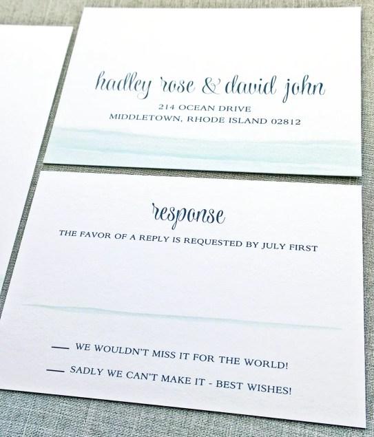 blue waves invitations rsvp