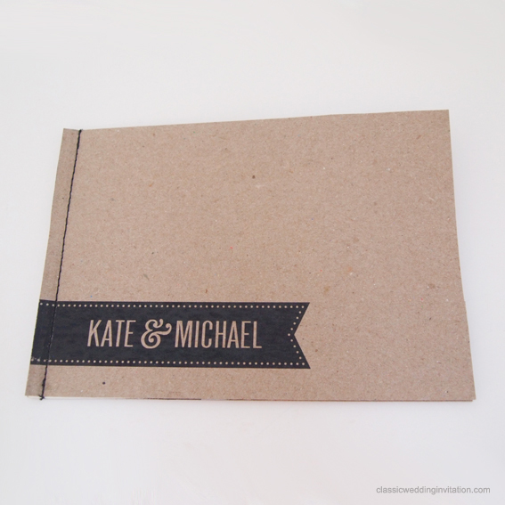Wedding Invitation Book Style: Unique Booklet Style Wedding Invitations