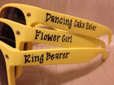 flower girl ring bearer sunglasses