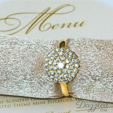 gold rhinestone napkin ring