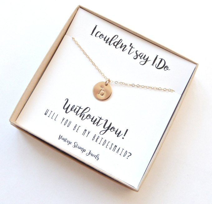 i couldnt say i do without you stamped jewelry | be my bridesmaid jewelry | http://emmalinebride.com/wedding/be-my-bridesmaid-jewelry/