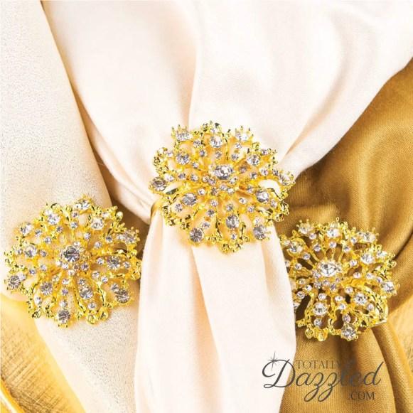 starburst napkin rings