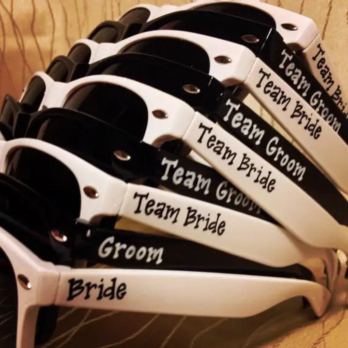 team bride team groom sunglasses