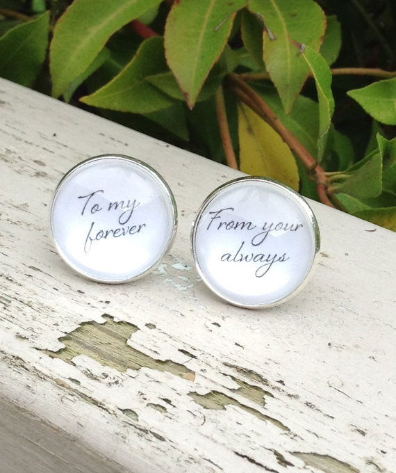 to my forever groom cuff links | http://emmalinebride.com/wedding/groom-cuff-links