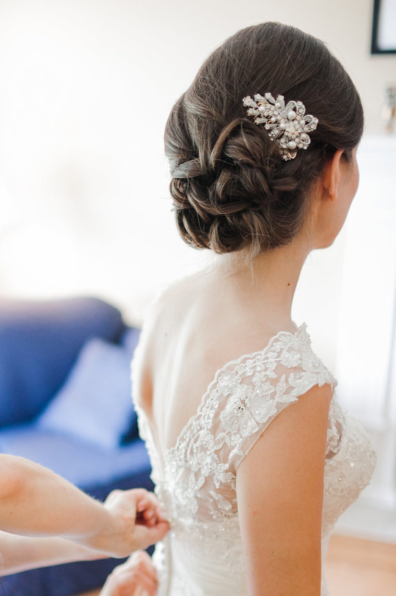 1 bridal hairstyle updo | 50+ Best Bridal Hairstyles Without Veil | http://emmalinebride.com/bride/best-bridal-hairstyles