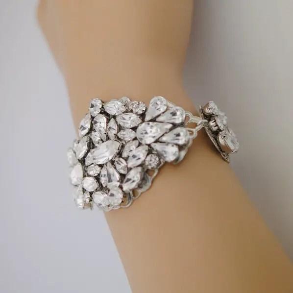crystal bridal bracelet 2