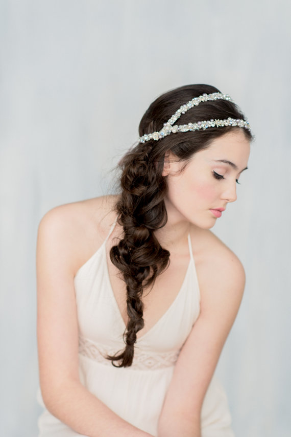 fishtail braid | 50+ Best Bridal Hairstyles Without Veil | http://emmalinebride.com/bride/best-bridal-hairstyles