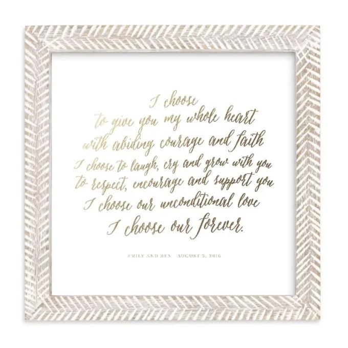 wedding vow art