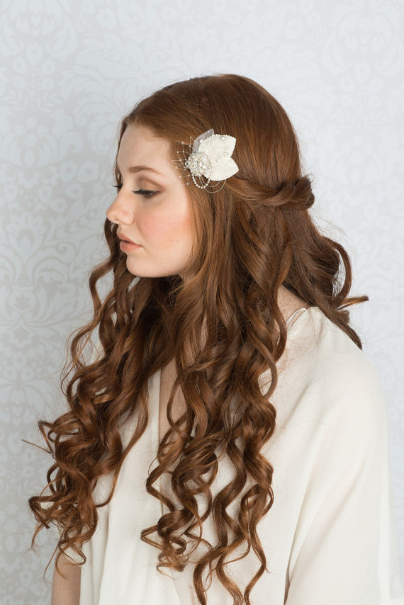 long curly hair down | 50+ Best Bridal Hairstyles Without Veil | http://emmalinebride.com/bride/best-bridal-hairstyles