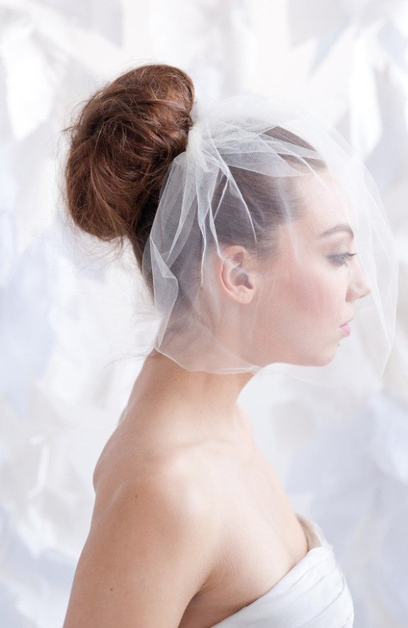 tulle birdcage wedding veil style