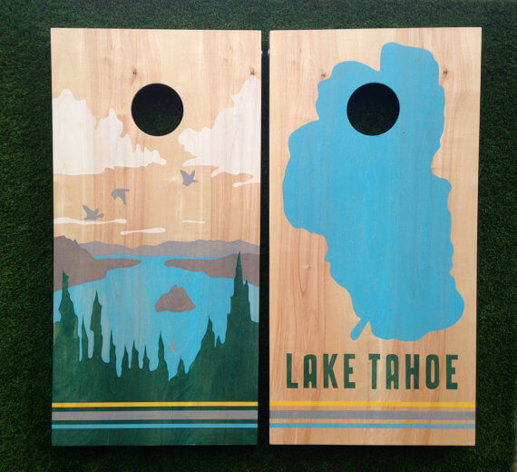 lake tahoe cornhole game