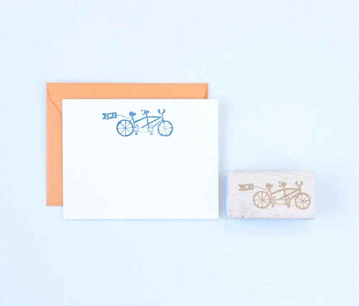 personalized bike stamp