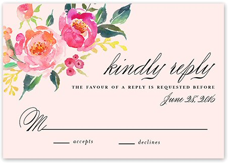 bohemian floral wedding invitations rsvp card