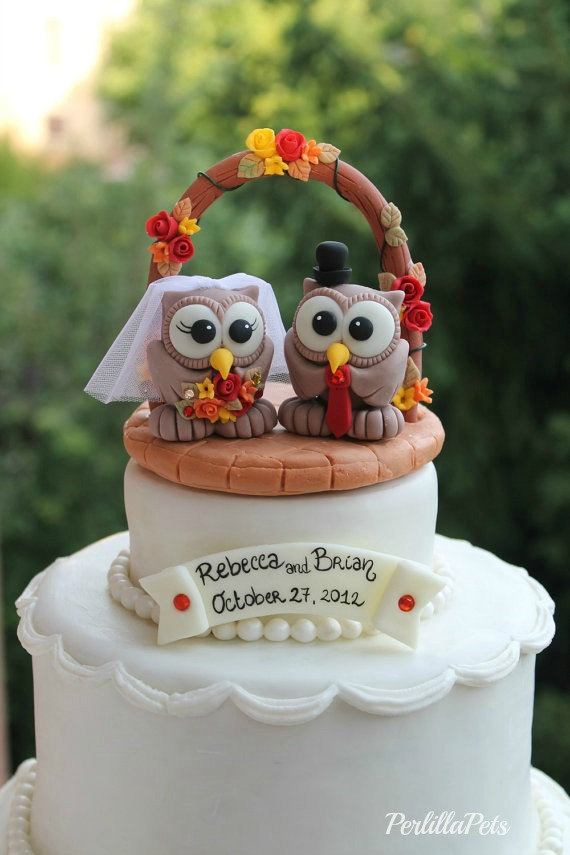 fall wedding cake toppers these owl cake toppers are for weddings emmaline 14178