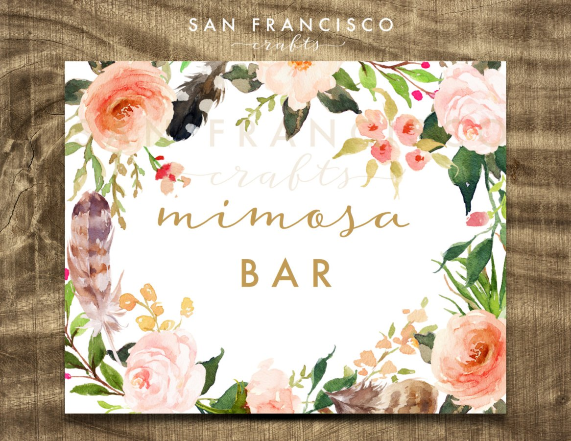 mimosa bar sign by SanFranciscoCrafts