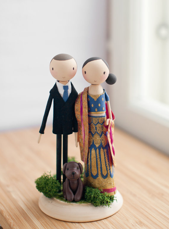 wedding couple cake topper