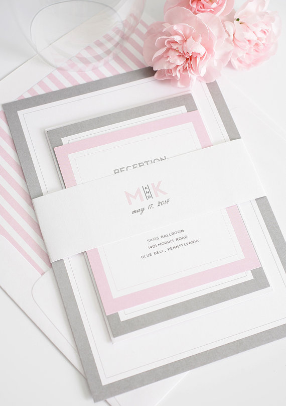 wedding invitations by shineinvitations via 26 Things Guests Love at Weddings from A to Z | http://emmalinebride.com/planning/things-guests-love-at-weddings/ 